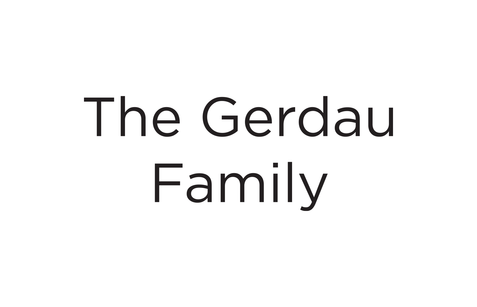 Gerdau Family, The