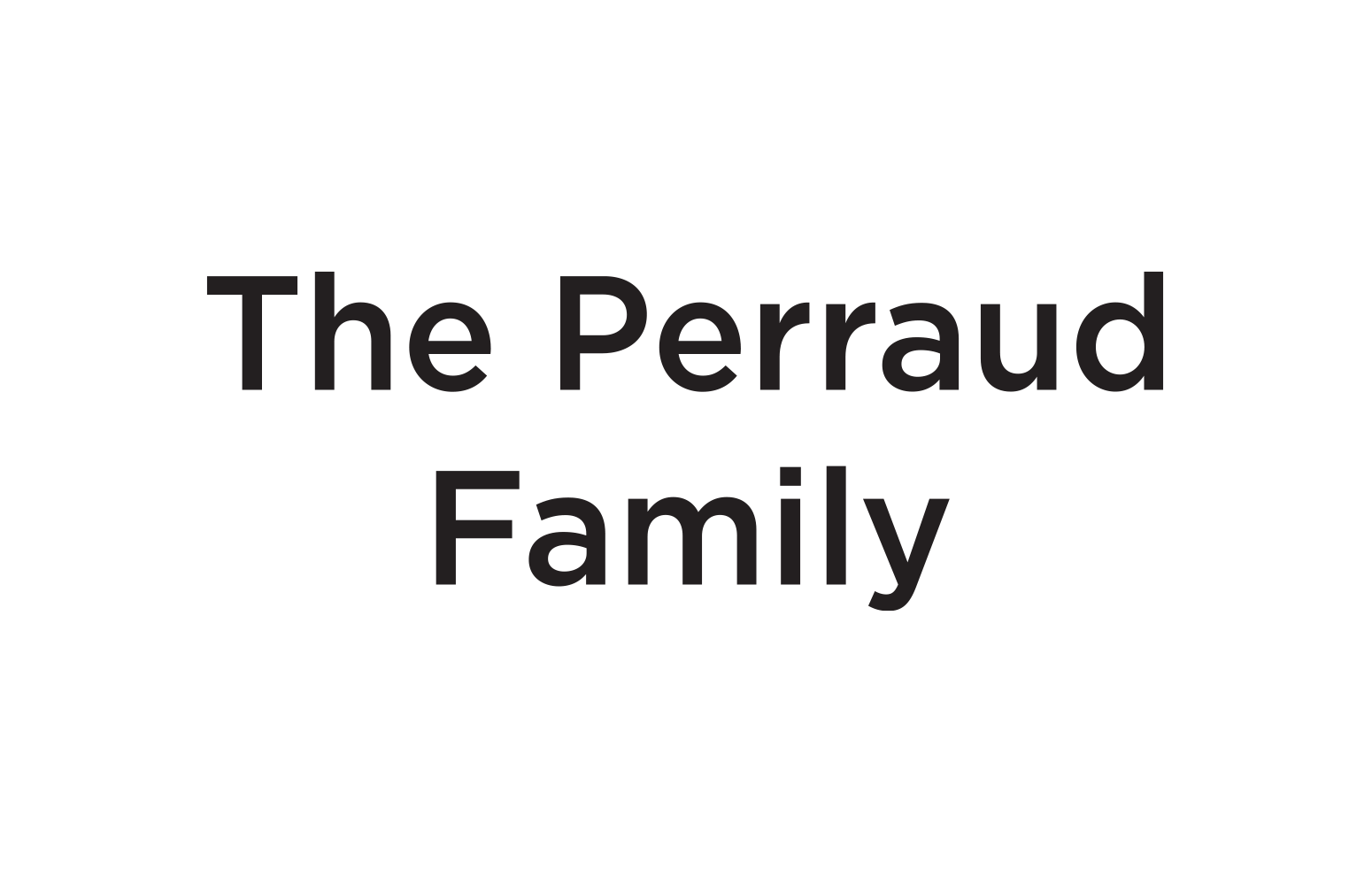 The Perraud FAmily